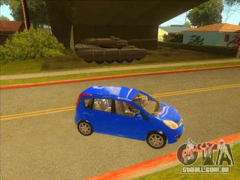 Nissan Note v0.5 Beta para GTA San Andreas vista direita