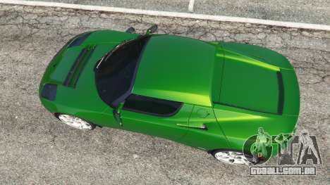 GTA 5 Tesla Roadster Sport 2011 voltar vista