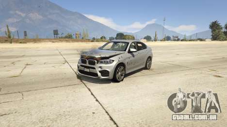 GTA 5 BMW X6M F16 Final frente vista lateral direita