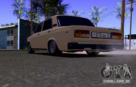 VAZ 2107 KBR para GTA San Andreas vista direita