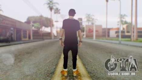 Skin Swagger Sasuke Uchiha para GTA San Andreas terceira tela