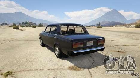 VAZ-2107 Lada Riva v1.2 para GTA 5