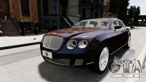 Bentley Continental 2010 Flying Spur Beta para GTA 4 vista de volta