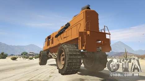 GTA 5 Monster Train traseira vista lateral esquerda