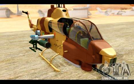 AH-1W IRIAF SuperCobra para GTA San Andreas vista traseira