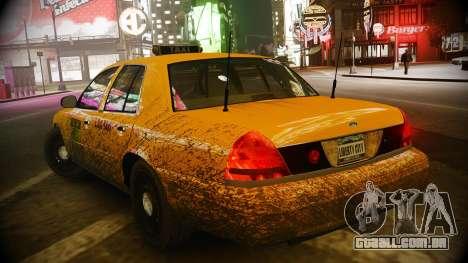 Ford Crown Victoria L.C.C Taxi para GTA 4 traseira esquerda vista