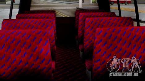 GTA 5 Rental Shuttle Bus Escalera Livery para GTA San Andreas vista direita