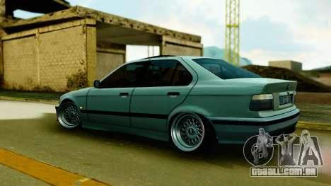 BMW 320 E36 para GTA San Andreas traseira esquerda vista