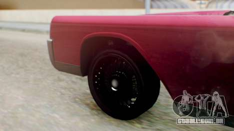 GTA 5 Vapid Chino Tunable PJ para GTA San Andreas traseira esquerda vista