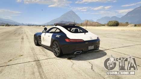 GTA 5 LAPD Mercedes-Benz AMG GT 2016 traseira vista lateral esquerda