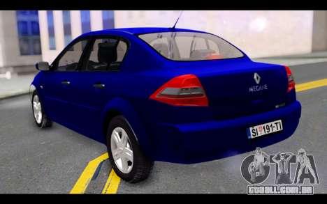 Renault Megane Sedan para GTA San Andreas esquerda vista