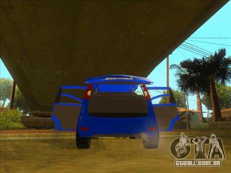 Nissan Note v0.5 Beta para GTA San Andreas interior