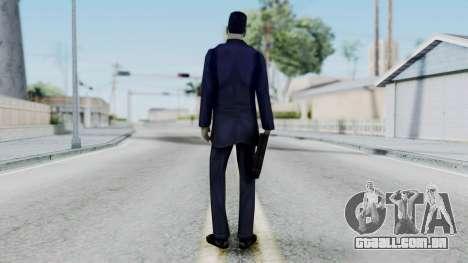 GMAN v1 from Half Life para GTA San Andreas terceira tela