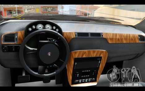 GTA 5 Declasse Granger FIB IVF para GTA San Andreas traseira esquerda vista