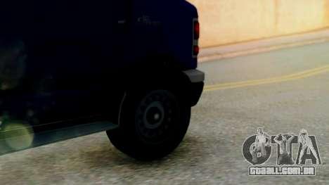 GTA 5 Rental Shuttle Bus Touchdown Livery para GTA San Andreas traseira esquerda vista