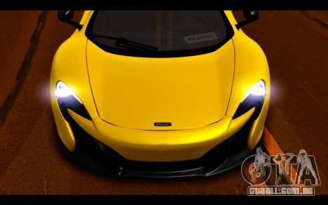 McLaren 650S Coupe para GTA San Andreas vista inferior