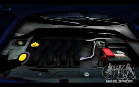 Renault Megane Sedan para GTA San Andreas vista superior