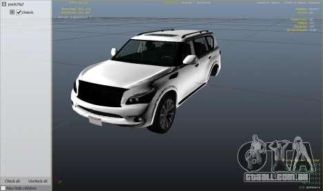 GTA 5 Infiniti QX56 vista lateral direita