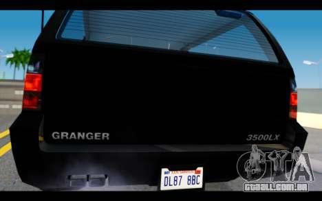 GTA 5 Declasse Granger FIB IVF para GTA San Andreas vista direita