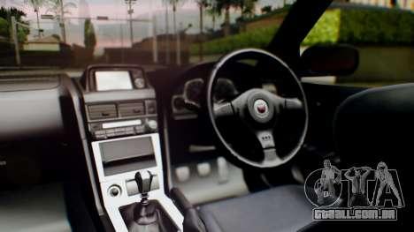 Nissan Skyline R34 Stance Nico Yazawa Itasha para GTA San Andreas vista traseira
