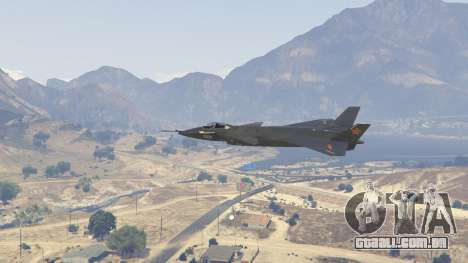 GTA 5 Chengdu J-20 quarto screenshot