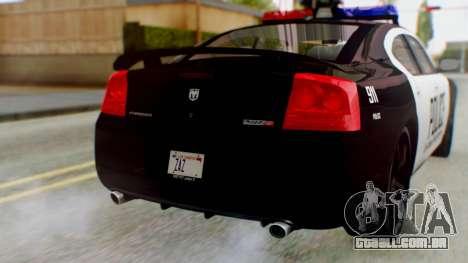 New Police LV para GTA San Andreas vista traseira