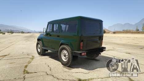GTA 5 УАЗ 3159 Porpoising traseira vista lateral esquerda