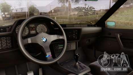 BMW M635 E24 CSi 1984 Stock para GTA San Andreas vista traseira