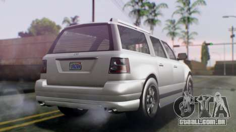 GTA 5 Dundreary Landstalker IVF para GTA San Andreas esquerda vista