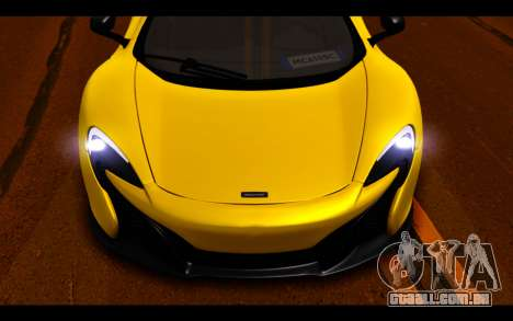 McLaren 650S Coupe para GTA San Andreas vista superior