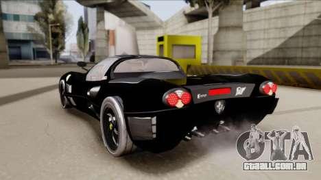 Ferrari P7-2 Shadow para GTA San Andreas esquerda vista