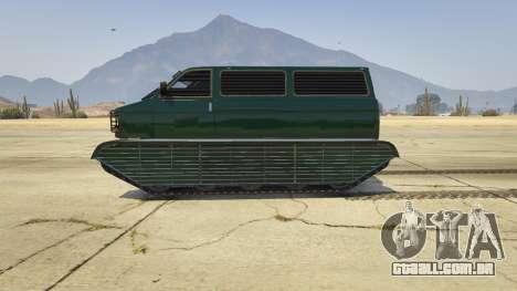 GTA 5 Police Transporter Tracked vista lateral esquerda