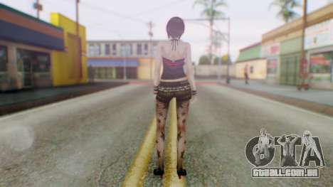 Fatal Frame 4 Misaki Punk Outfit para GTA San Andreas terceira tela