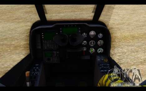 AH-1W IRIAF SuperCobra para GTA San Andreas vista direita