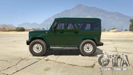 GTA 5 УАЗ 3159 Porpoising vista lateral esquerda