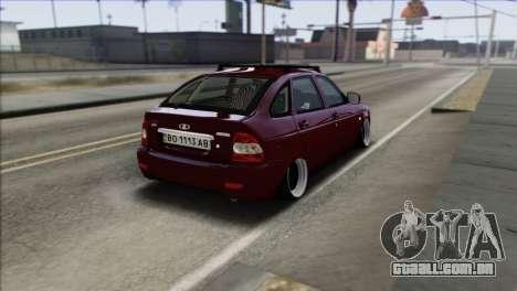 Lada Priora Ukrainian Stance para GTA San Andreas traseira esquerda vista