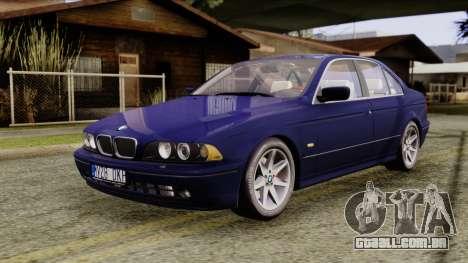 BMW 530D E39 2001 Stock para GTA San Andreas vista direita