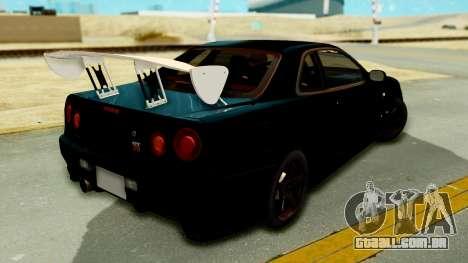 Nissan Skyline GT-R Nismo Tuned para GTA San Andreas esquerda vista