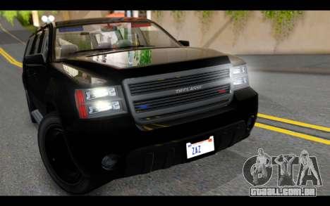 GTA 5 Declasse Granger FIB IVF para GTA San Andreas vista traseira