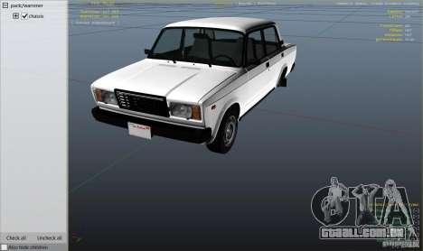 GTA 5 VAZ-2107 Lada Riva v1.2 voltar vista