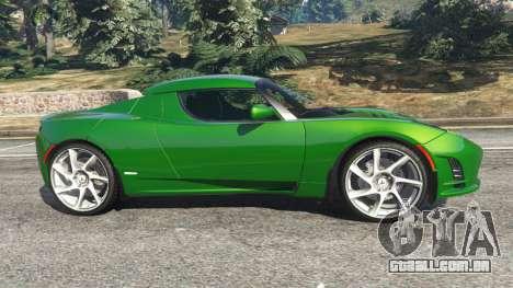 GTA 5 Tesla Roadster Sport 2011 vista lateral esquerda
