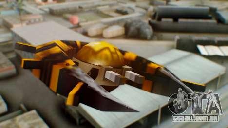Alien Ship Yellow-Black para GTA San Andreas traseira esquerda vista