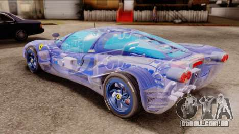 Ferrari P7 Crystal para GTA San Andreas traseira esquerda vista