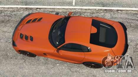 GTA 5 Dodge Viper SRT 2014 voltar vista