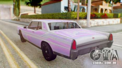 GTA 5 Vapid Chino Tunable PJ para GTA San Andreas vista superior