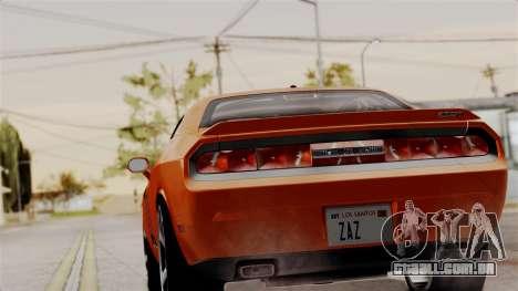 Dodge Challenger SRT-8 2010 para GTA San Andreas esquerda vista