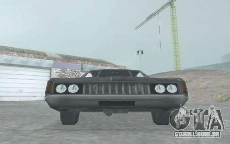 Clover Stock Car para GTA San Andreas traseira esquerda vista