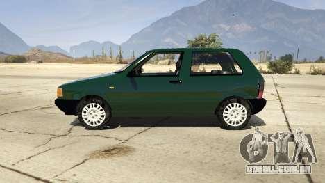 GTA 5 Fiat Uno 1995 vista lateral esquerda