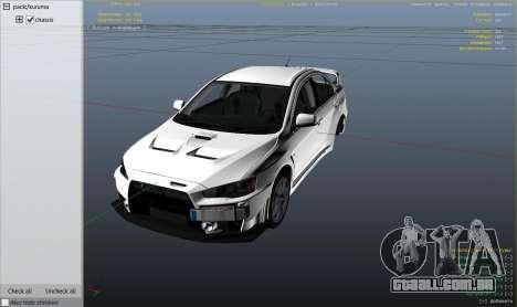 Roda GTA 5 Mitsubishi Lancer Evolution X FQ-400 v2