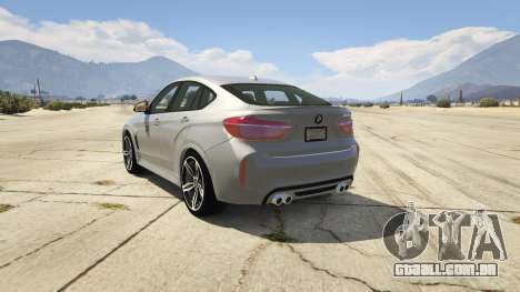 GTA 5 BMW X6M F16 Final traseira vista lateral esquerda